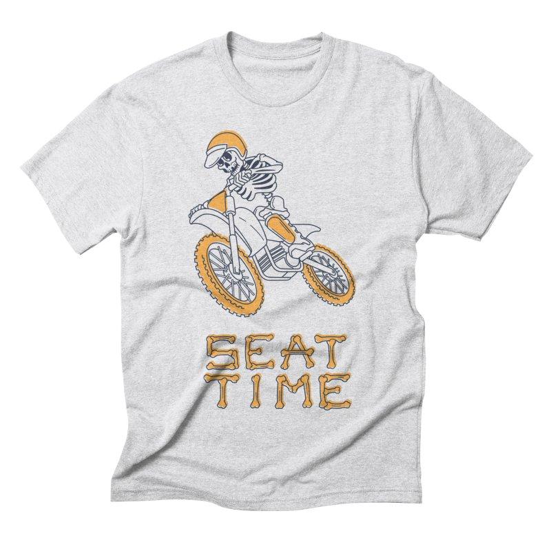 Seat Time Skeleton Men's Triblend T-shirt by Full Pint Media Group's Shop