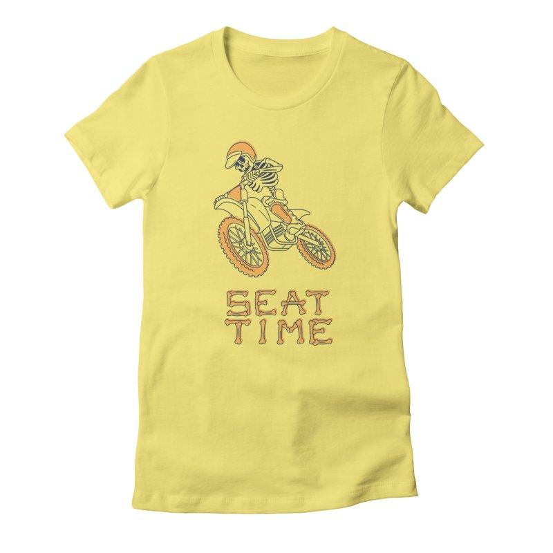 Seat Time Skeleton Women's T-Shirt by Full Pint Media Group's Shop