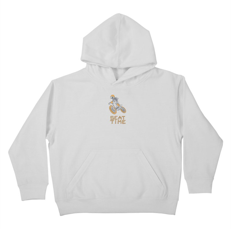 Seat Time Skeleton Kids Pullover Hoody by Full Pint Media Group's Shop