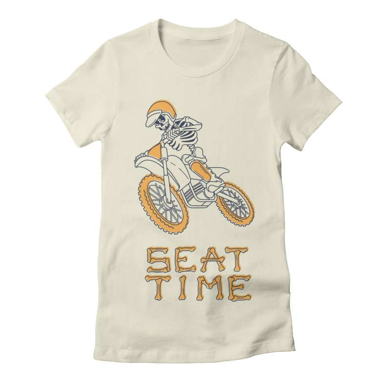 Seat Time Skeleton Women's Fitted T-Shirt by Full Pint Media Group's Shop
