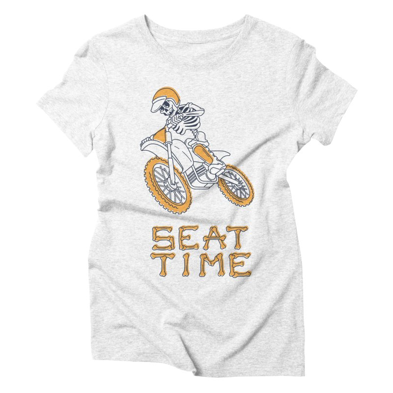 Seat Time Skeleton Women's Triblend T-shirt by Full Pint Media Group's Shop