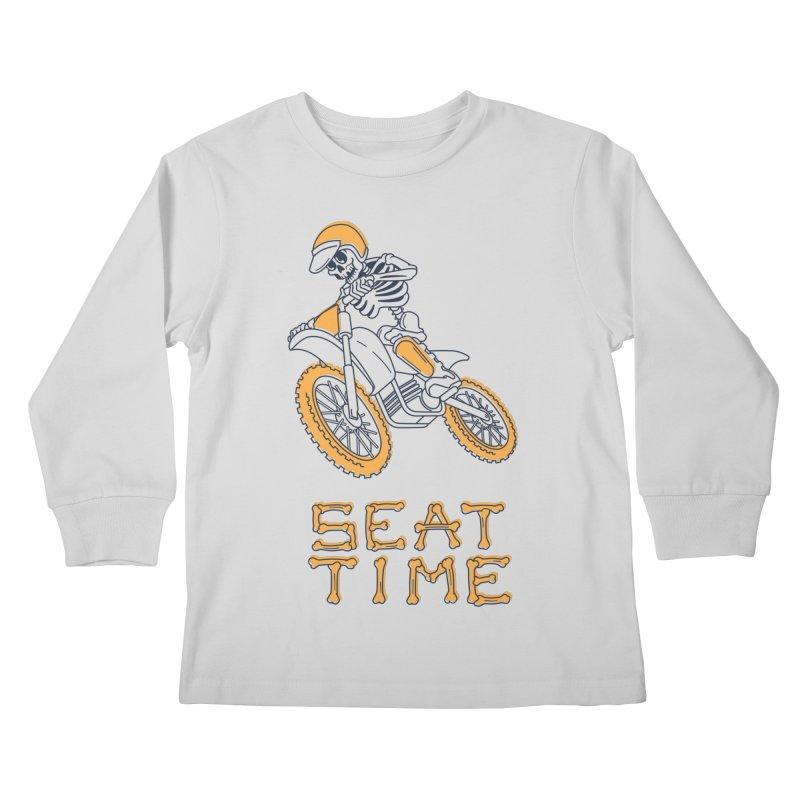 Seat Time Skeleton Kids Longsleeve T-Shirt by Full Pint Media Group's Shop
