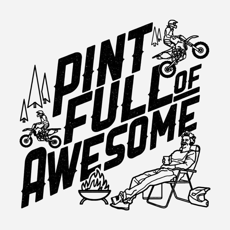 Pint Full Of Awesome - Campfire Men's Longsleeve T-Shirt by Full Pint Media Group's Shop