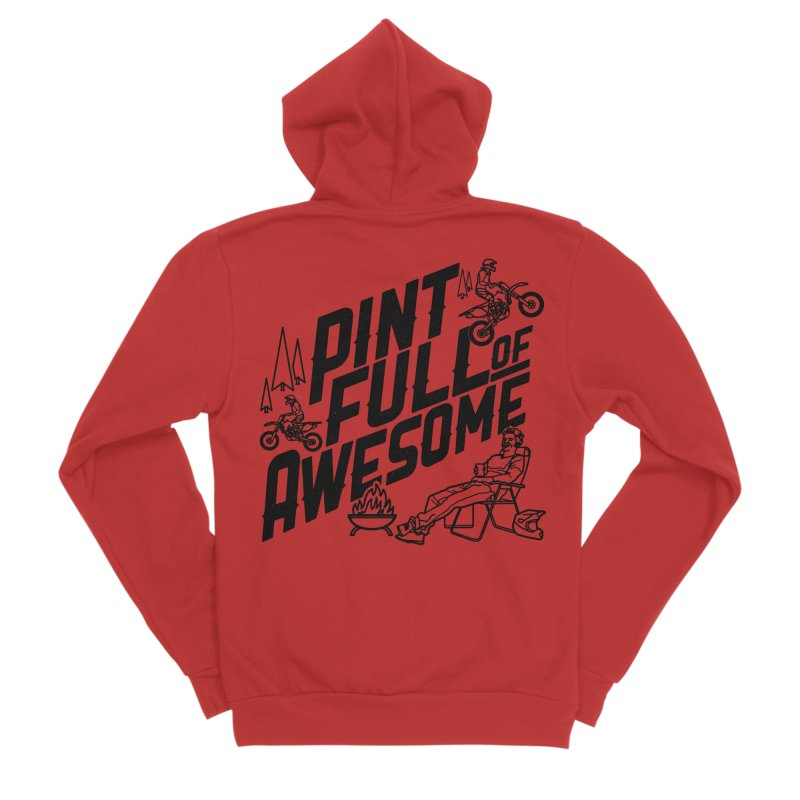 Pint Full Of Awesome - Campfire Women's Zip-Up Hoody by Full Pint Media Group's Shop