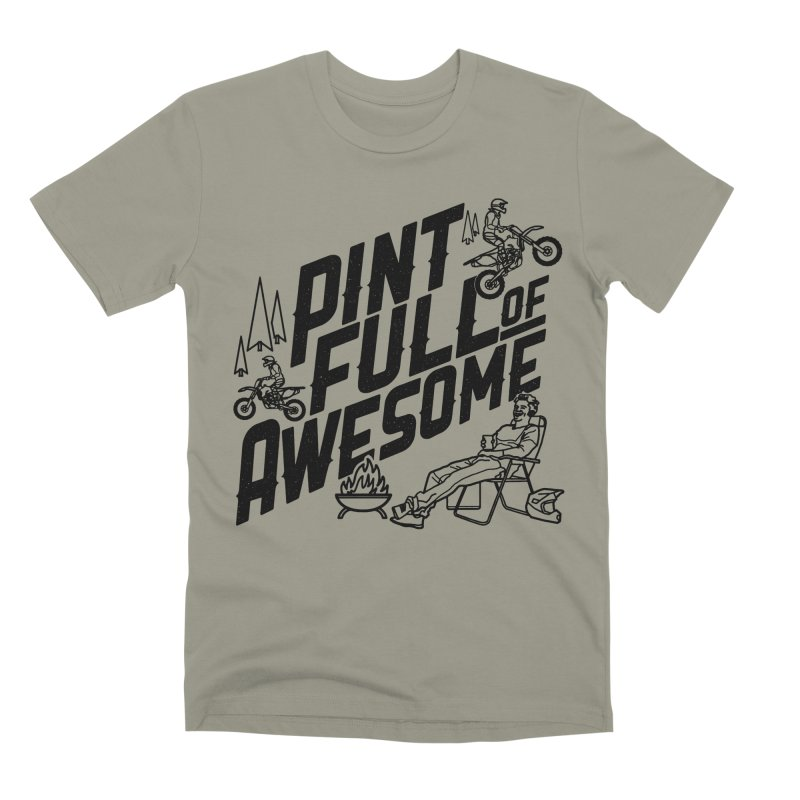 Pint Full Of Awesome - Campfire Men's Premium T-Shirt by Full Pint Media Group's Shop