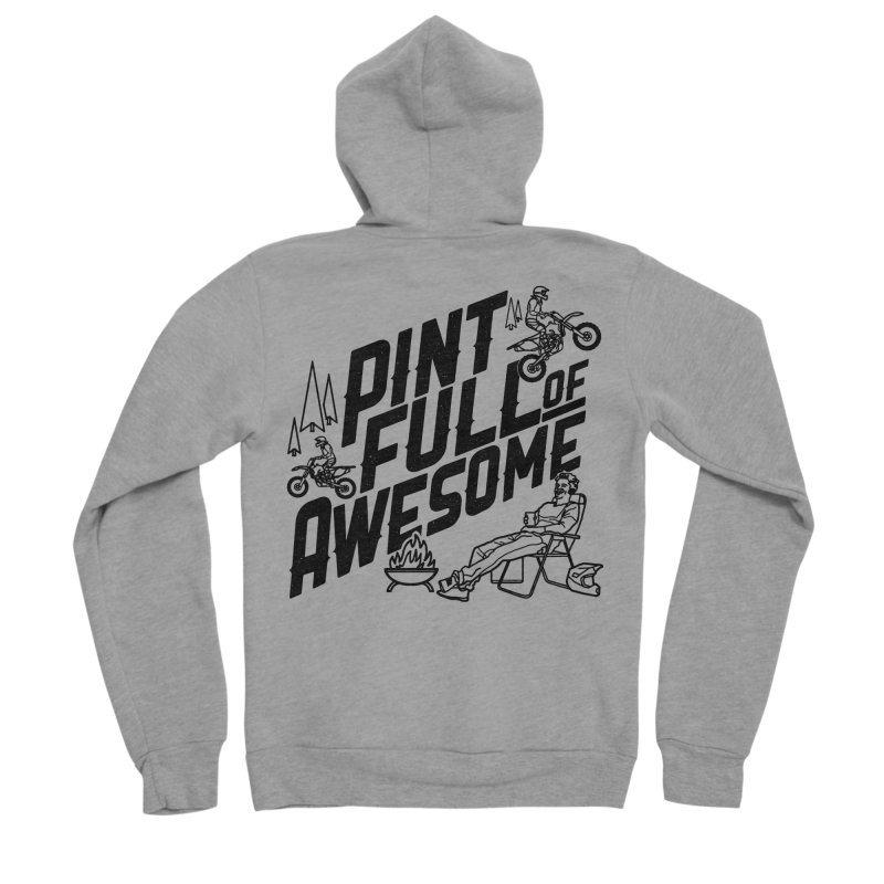 Pint Full Of Awesome - Campfire Men's Sponge Fleece Zip-Up Hoody by Full Pint Media Group's Shop