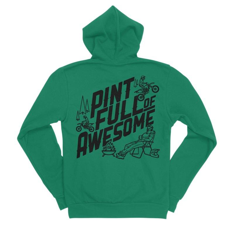 Pint Full Of Awesome - Campfire Men's Sponge Fleece Zip-Up Hoody by Full Pint Media Group's Shop