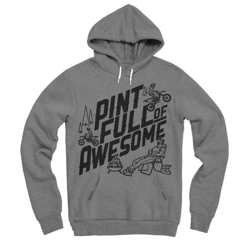 Pint Full Of Awesome - Campfire Men's Sponge Fleece Pullover Hoody by Full Pint Media Group's Shop