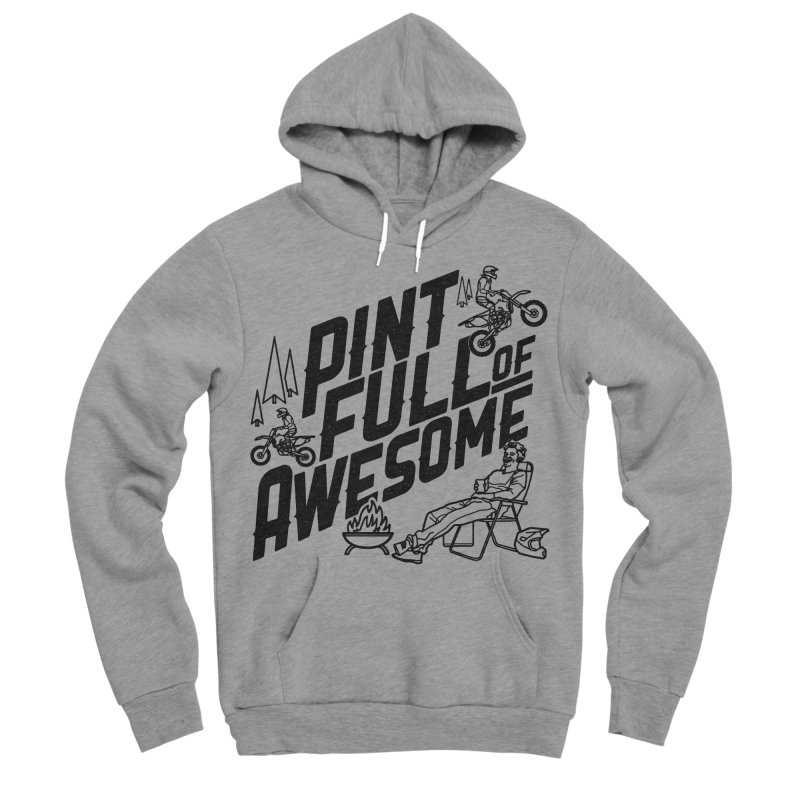 Pint Full Of Awesome - Campfire Men's Sponge Fleece Pullover Hoody by Full Pint Media Group's Shop