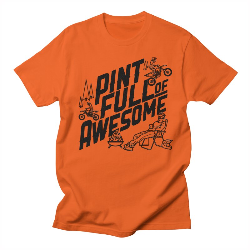Pint Full Of Awesome - Campfire Men's T-Shirt by Full Pint Media Group's Shop