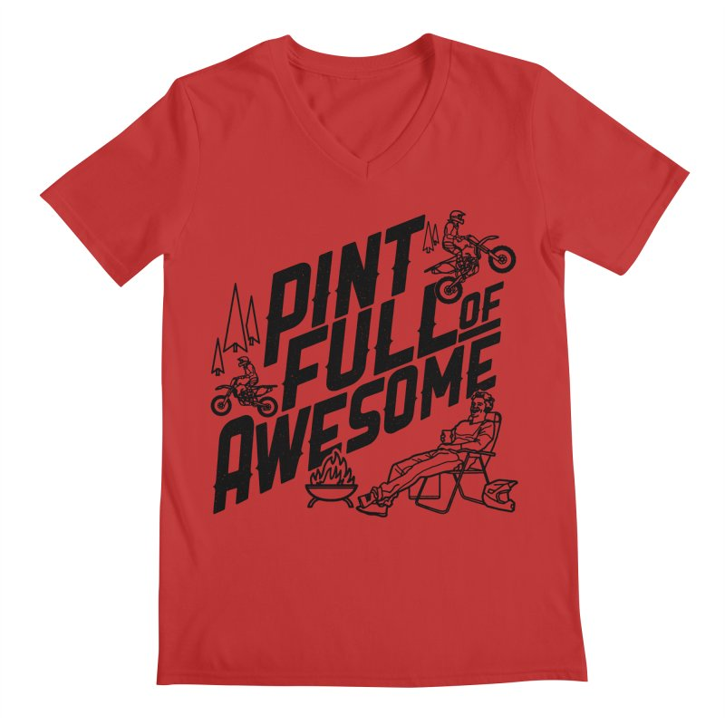 Pint Full Of Awesome - Campfire Men's V-Neck by Full Pint Media Group's Shop