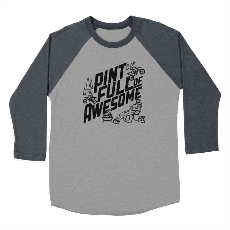 Pint Full Of Awesome - Campfire Women's Baseball Triblend Longsleeve T-Shirt by Full Pint Media Group's Shop
