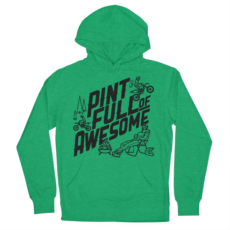 Pint Full Of Awesome - Campfire Women's French Terry Pullover Hoody by Full Pint Media Group's Shop