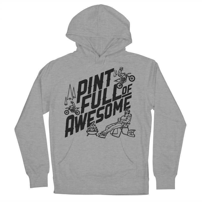 Pint Full Of Awesome - Campfire Men's French Terry Pullover Hoody by Full Pint Media Group's Shop