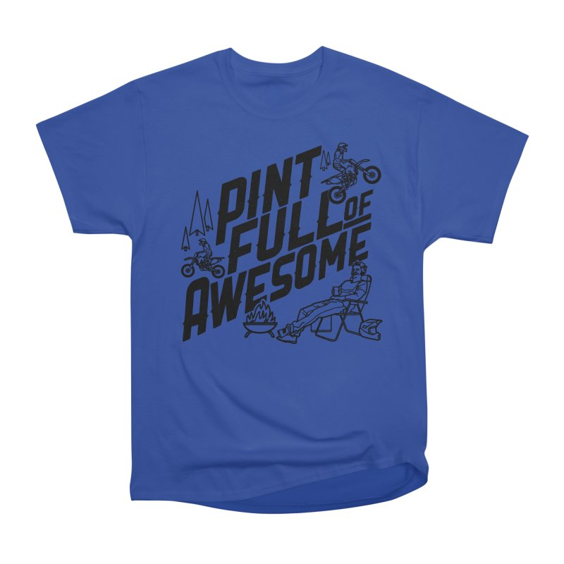 Pint Full Of Awesome - Campfire                         Women's Heavyweight Unisex T-Shirt by Full Pint Media Group's Shop