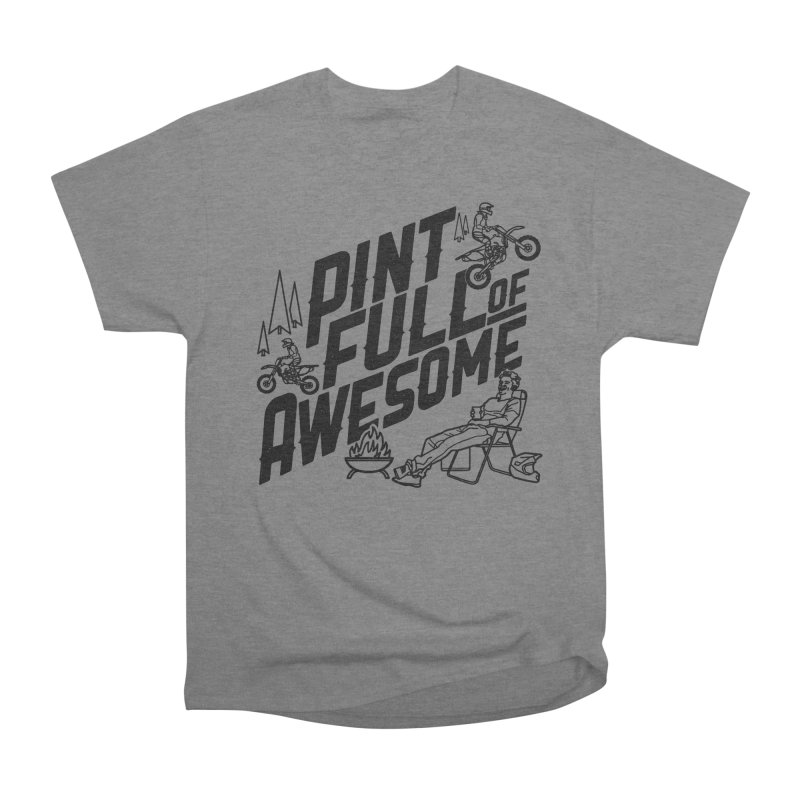 Pint Full Of Awesome - Campfire Men's Heavyweight T-Shirt by Full Pint Media Group's Shop