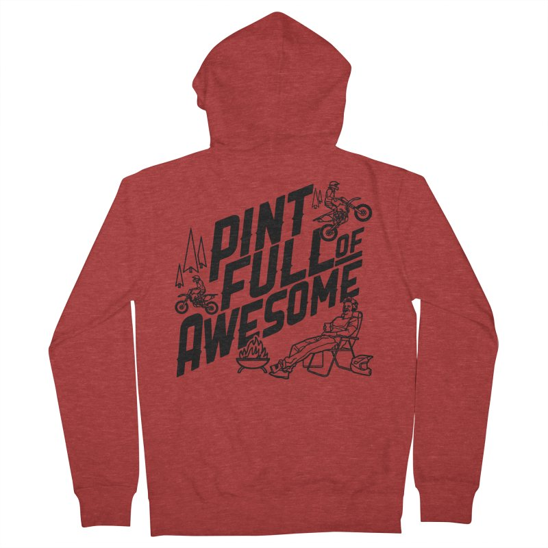Pint Full Of Awesome - Campfire Women's French Terry Zip-Up Hoody by Full Pint Media Group's Shop