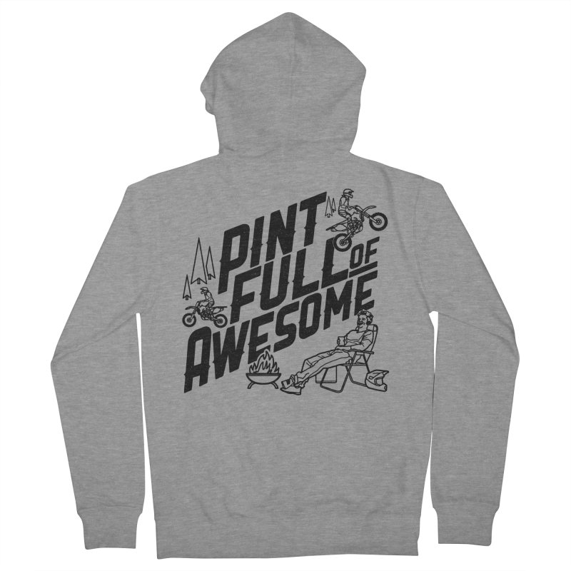 Pint Full Of Awesome - Campfire Men's French Terry Zip-Up Hoody by Full Pint Media Group's Shop