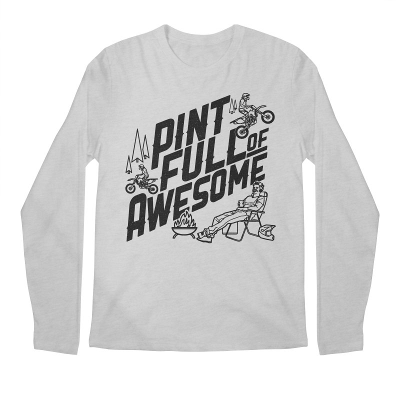 Pint Full Of Awesome - Campfire Men's Regular Longsleeve T-Shirt by Full Pint Media Group's Shop