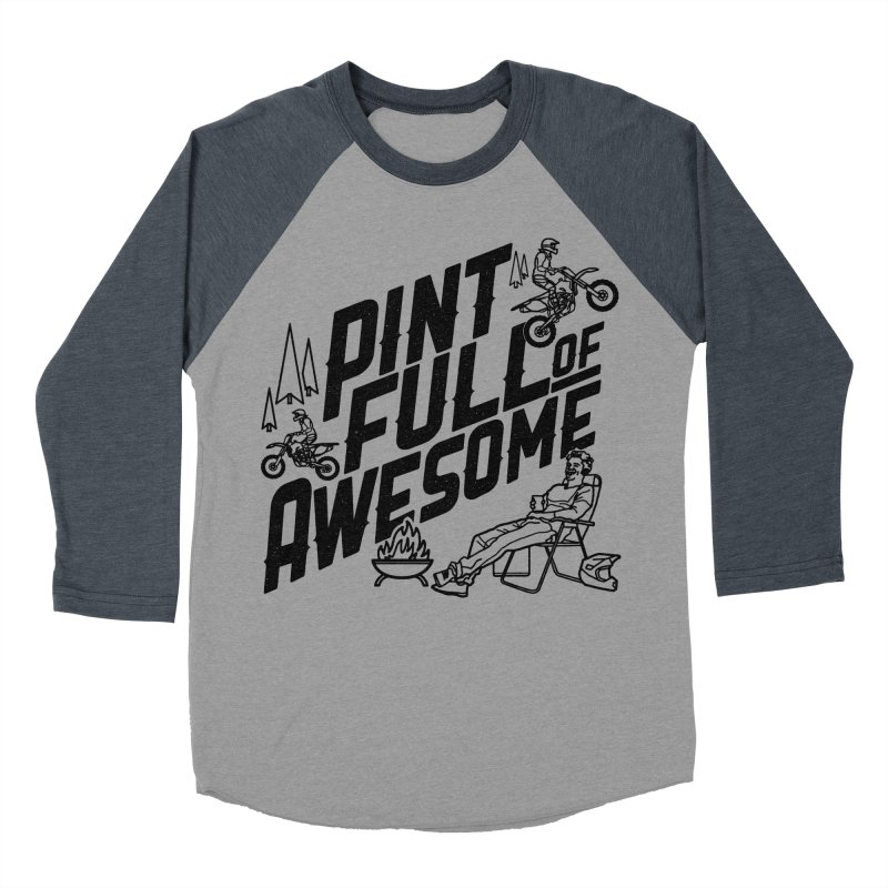 Pint Full Of Awesome - Campfire Men's Baseball Triblend Longsleeve T-Shirt by Full Pint Media Group's Shop