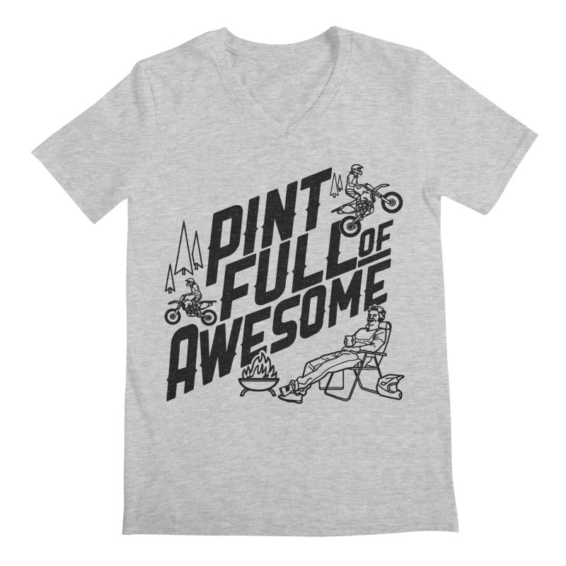 Pint Full Of Awesome - Campfire Men's Regular V-Neck by Full Pint Media Group's Shop