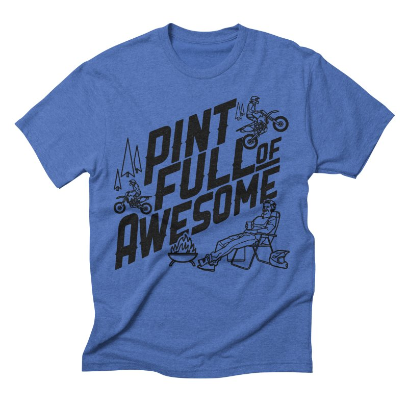 Pint Full Of Awesome - Campfire                         Men's Triblend T-shirt by Full Pint Media Group's Shop