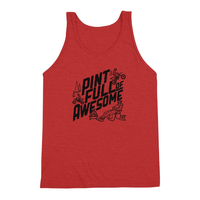 Pint Full Of Awesome - Campfire Men's Triblend Tank by Full Pint Media Group's Shop