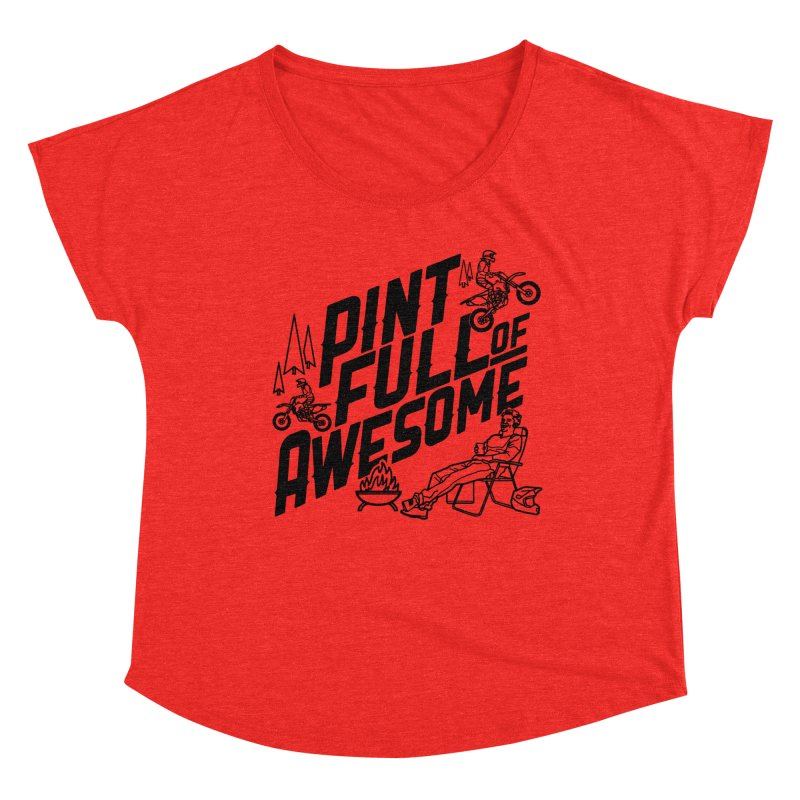 Pint Full Of Awesome - Campfire Women's Scoop Neck by Full Pint Media Group's Shop