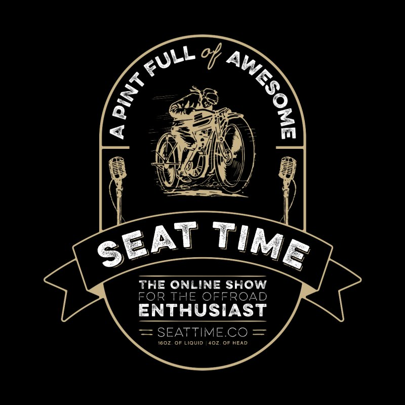 Seat Time Beer Label Shirt Accessories Sticker by Full Pint Media Group's Shop