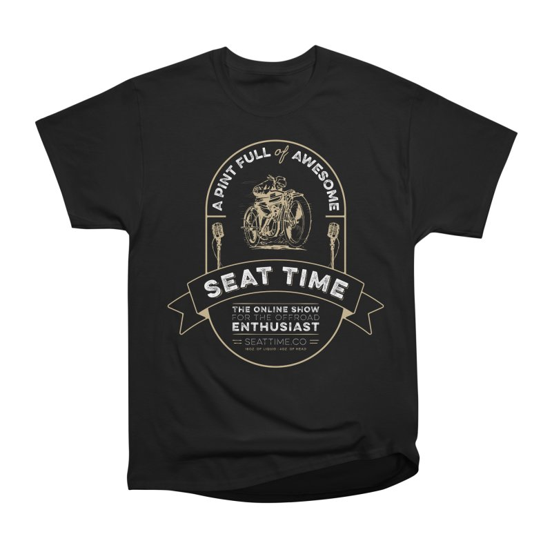 Seat Time Beer Label Shirt Men's Heavyweight T-Shirt by Full Pint Media Group's Shop