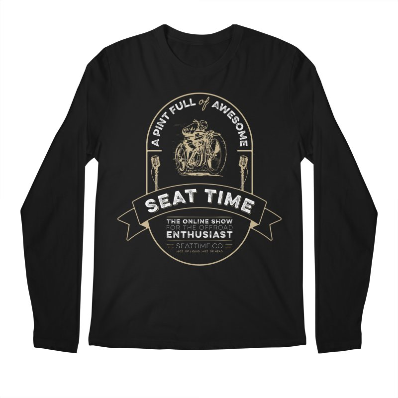 Seat Time Beer Label Shirt Men's Regular Longsleeve T-Shirt by Full Pint Media Group's Shop