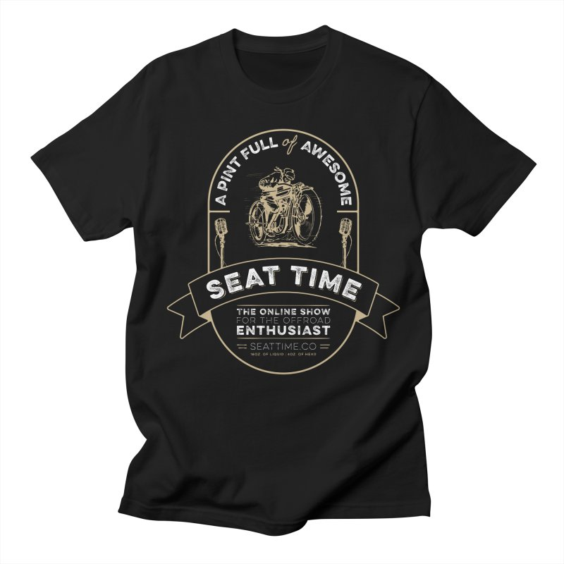 Seat Time Beer Label Shirt Men's Regular T-Shirt by Full Pint Media Group's Shop
