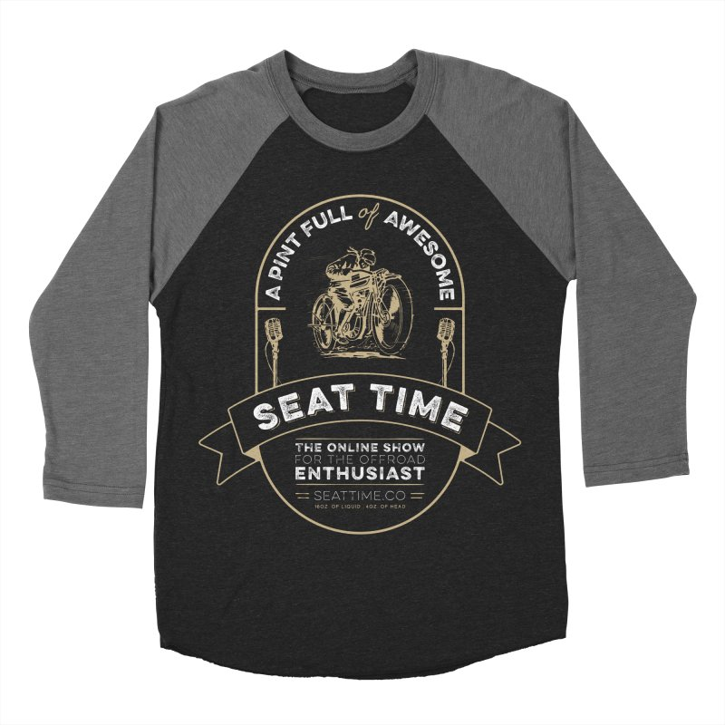 Seat Time Beer Label Shirt Women's Baseball Triblend Longsleeve T-Shirt by Full Pint Media Group's Shop