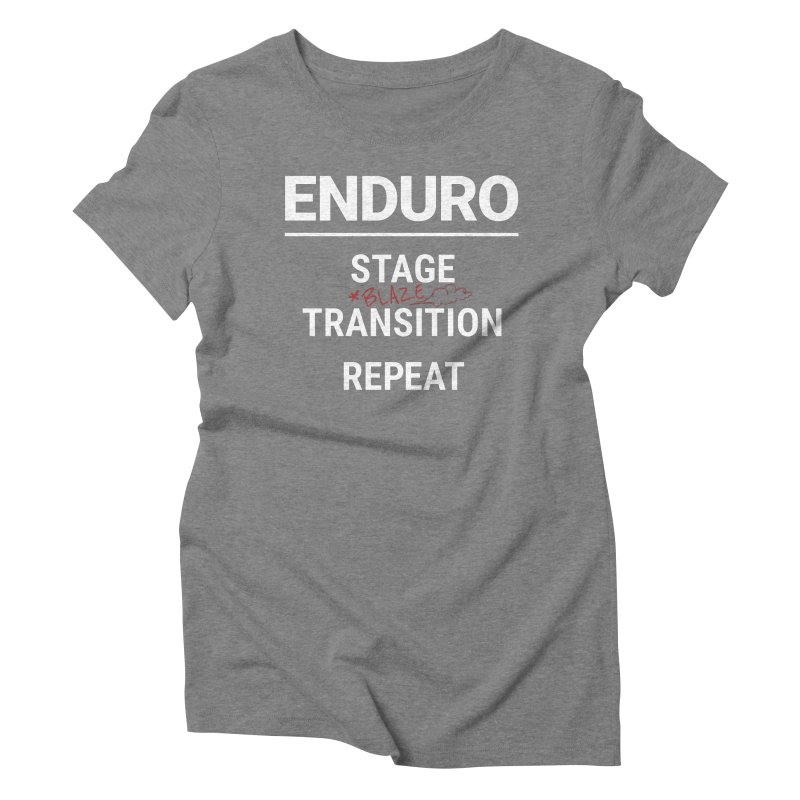 The Rules of Enduro - Blaze Women's Triblend T-Shirt by Full Pint Media Group's Shop