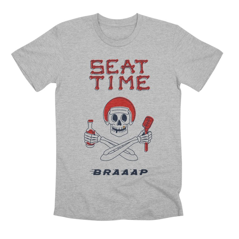 Vintage Skeleton V2 | BRAAAP Men's Premium T-Shirt by Full Pint Media Group's Shop