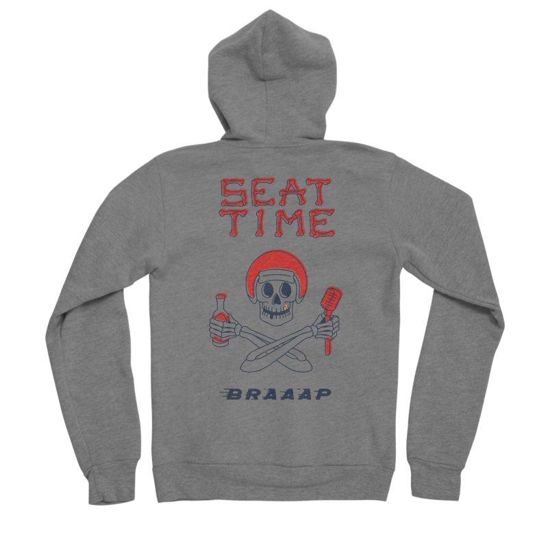 Vintage Skeleton V2 | BRAAAP Men's Sponge Fleece Zip-Up Hoody by Full Pint Media Group's Shop