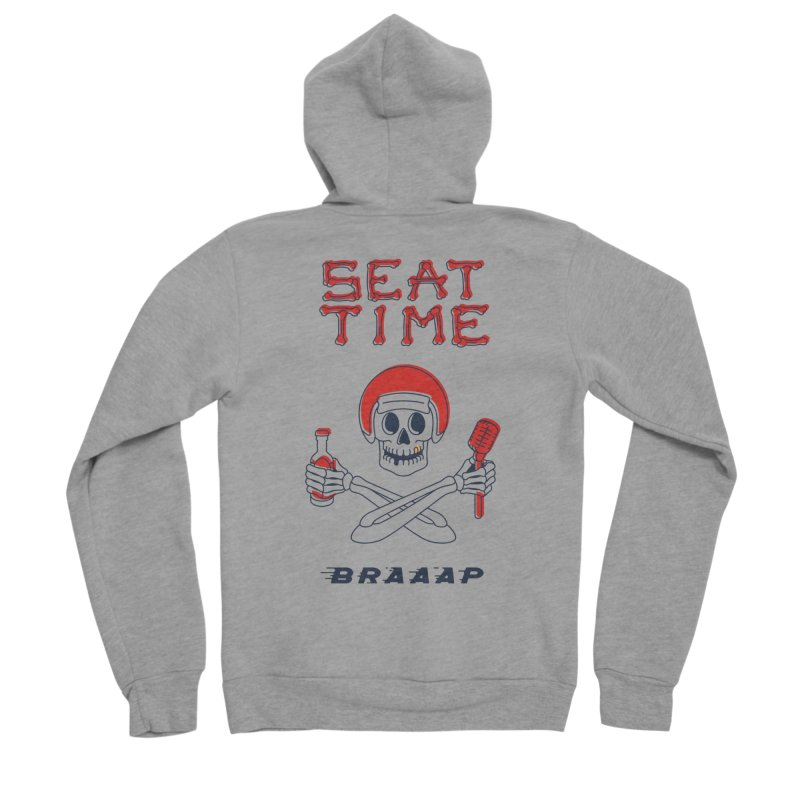 Vintage Skeleton V2 | BRAAAP Men's Sponge Fleece Zip-Up Hoody by Full Pint Media Group's Shop