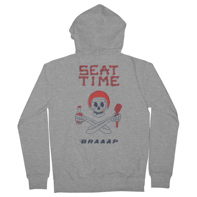 Vintage Skeleton V2 | BRAAAP Men's Zip-Up Hoody by Full Pint Media Group's Shop