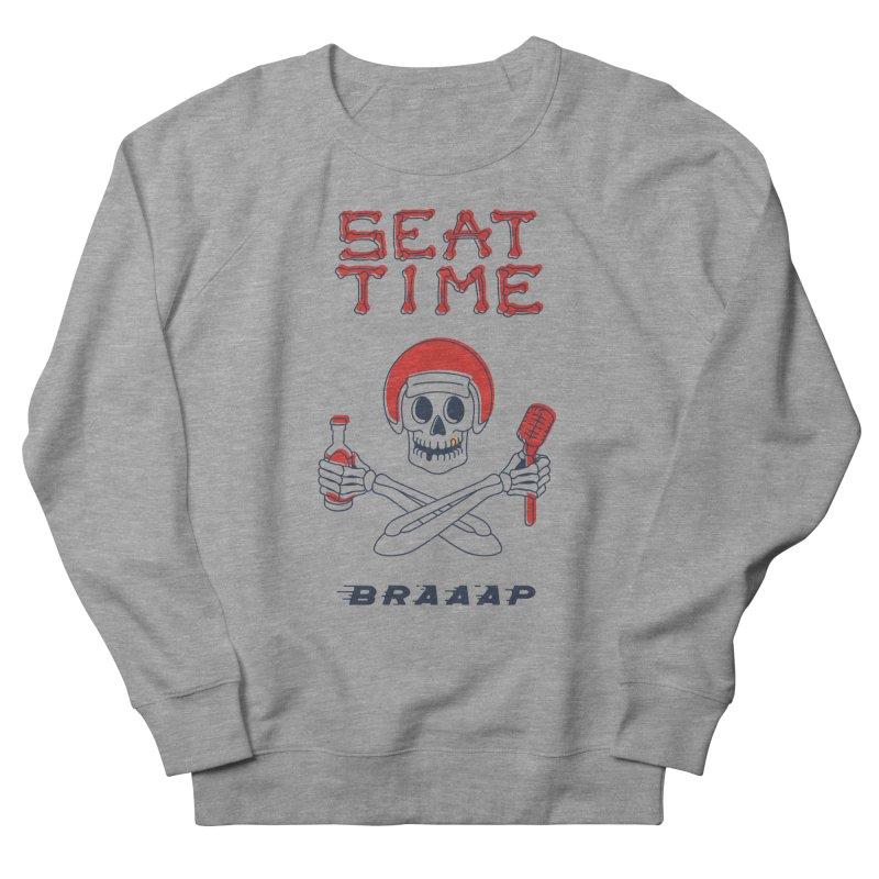 Vintage Skeleton V2 | BRAAAP Men's French Terry Sweatshirt by Full Pint Media Group's Shop