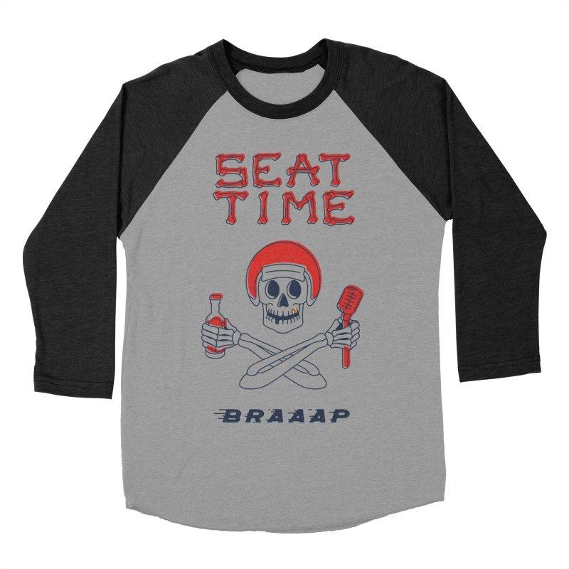 Vintage Skeleton V2   BRAAAP Men's Baseball Triblend Longsleeve T-Shirt by Full Pint Media Group's Shop