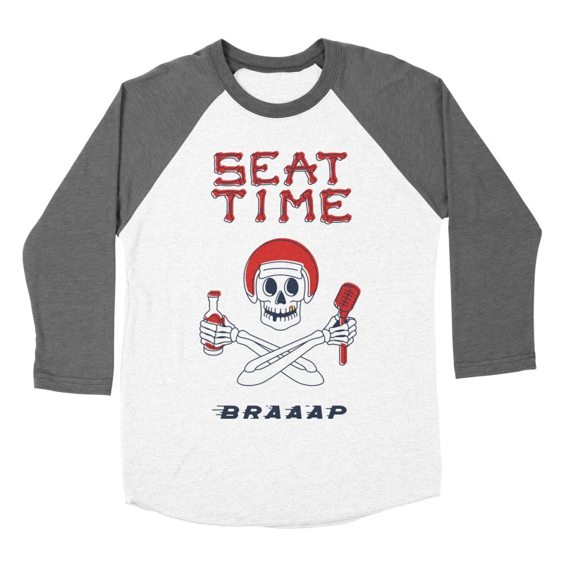 Vintage Skeleton V2 | BRAAAP Men's Baseball Triblend Longsleeve T-Shirt by Full Pint Media Group's Shop