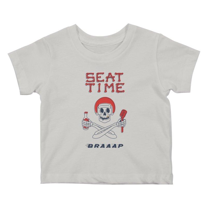 Vintage Skeleton V2   BRAAAP Kids Baby T-Shirt by Full Pint Media Group's Shop