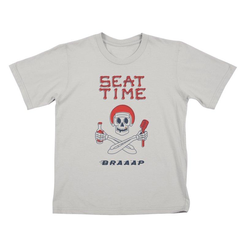Vintage Skeleton V2 | BRAAAP Kids T-Shirt by Full Pint Media Group's Shop