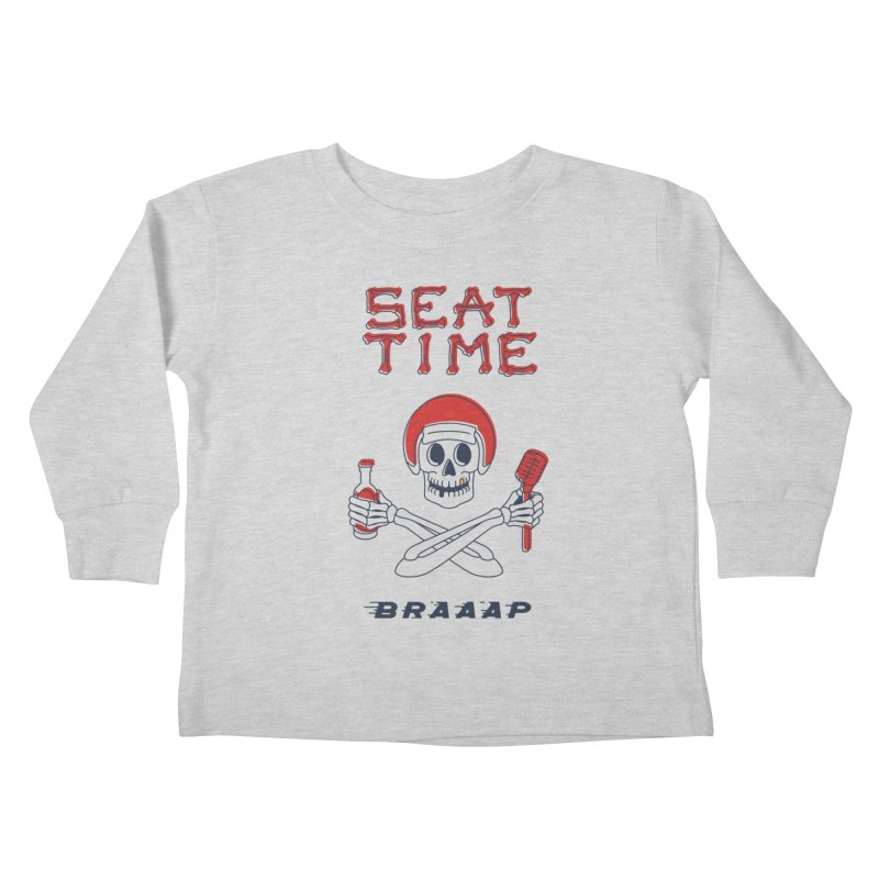 Vintage Skeleton V2 | BRAAAP Kids Toddler Longsleeve T-Shirt by Full Pint Media Group's Shop
