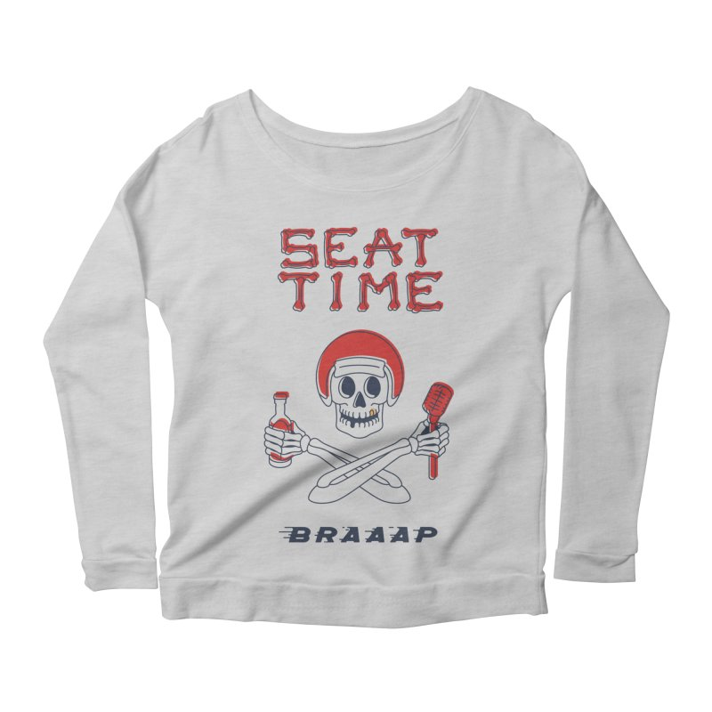 Vintage Skeleton V2 | BRAAAP Women's Scoop Neck Longsleeve T-Shirt by Full Pint Media Group's Shop
