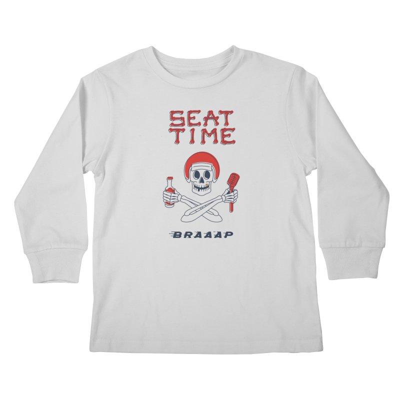 Vintage Skeleton V2 | BRAAAP Kids Longsleeve T-Shirt by Full Pint Media Group's Shop