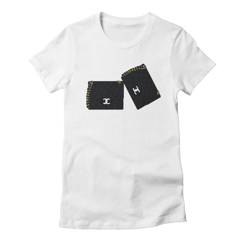 Handbag Love  in Women's Fitted T-Shirt White by Fashionlistically