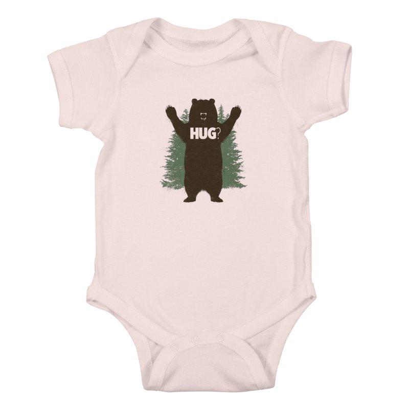 Bear Hug Kids Baby Bodysuit by Fanboy30's Artist Shop