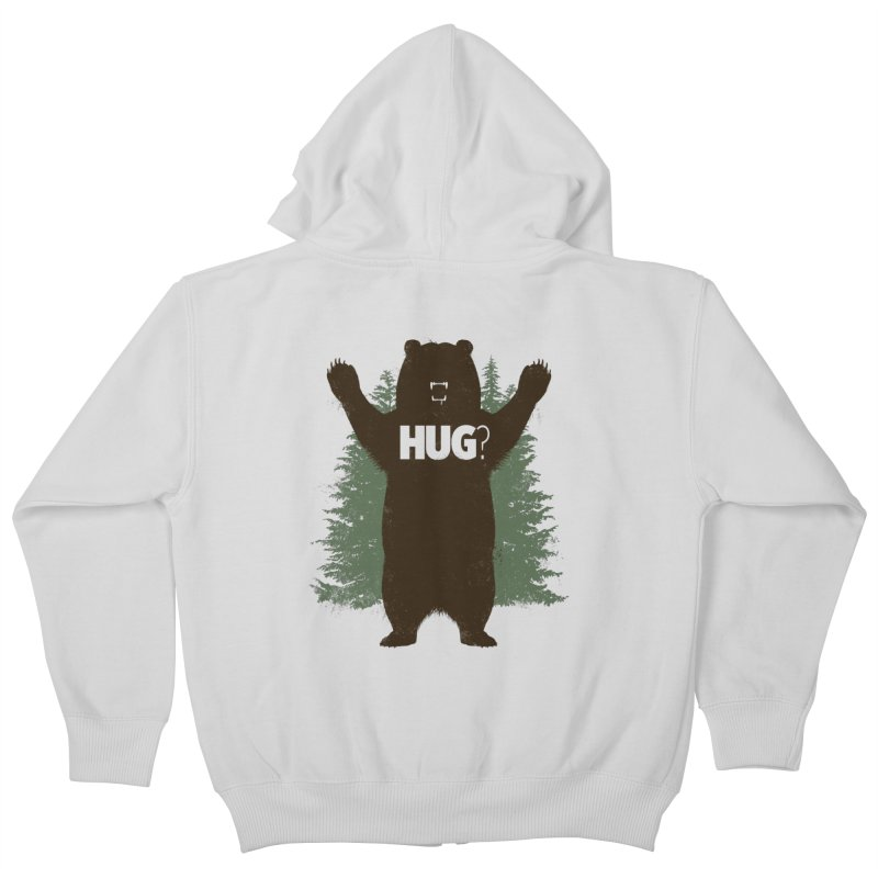 Bear Hug Kids Zip-Up Hoody by Fanboy30's Artist Shop