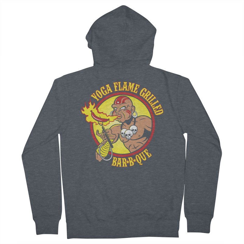 Yoga Flame Grilled BBQ Women's Zip-Up Hoody by Fanboy30's Artist Shop